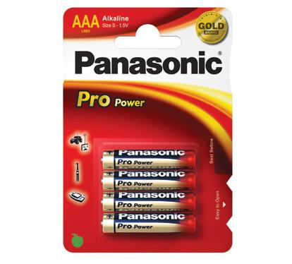 Bilde av Panasonic Propoweralkalineaaa Batterier (4 Stk.)