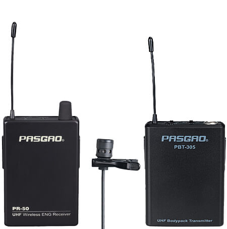 Bilde av Pasgao Pr-50r-pbt305-pl10 Trådløst Myggmikrofon-sett