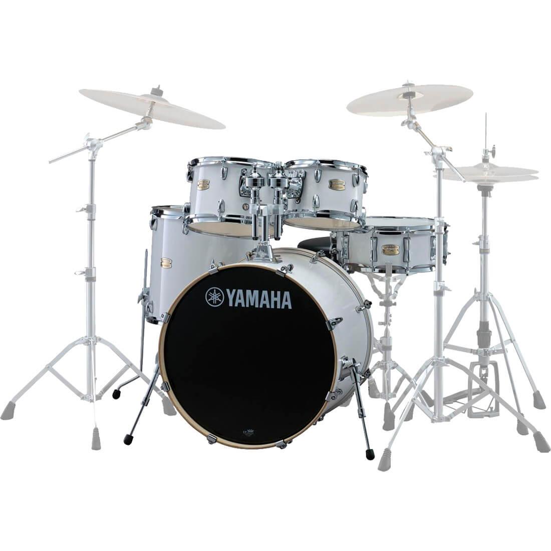Bilde av Yamaha Sbp0f5pwhstagecustombirch Trommesett Purewhite