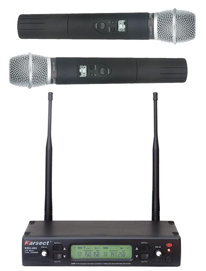 Bilde av Karsect Kru-482kst7u Trådløst 2 X Håndholdt Mikrofon-sett