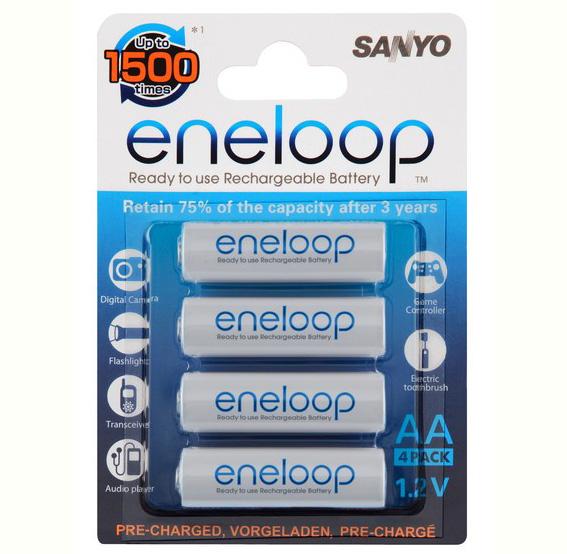 Bilde av Sanyo Hr-3utg-4bp Aa Oppladbare Batterier, 4 Stk.