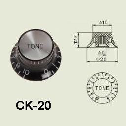Bilde av Wilkinson Ck-20 El-gitar-kontrol-knott Blackchrome