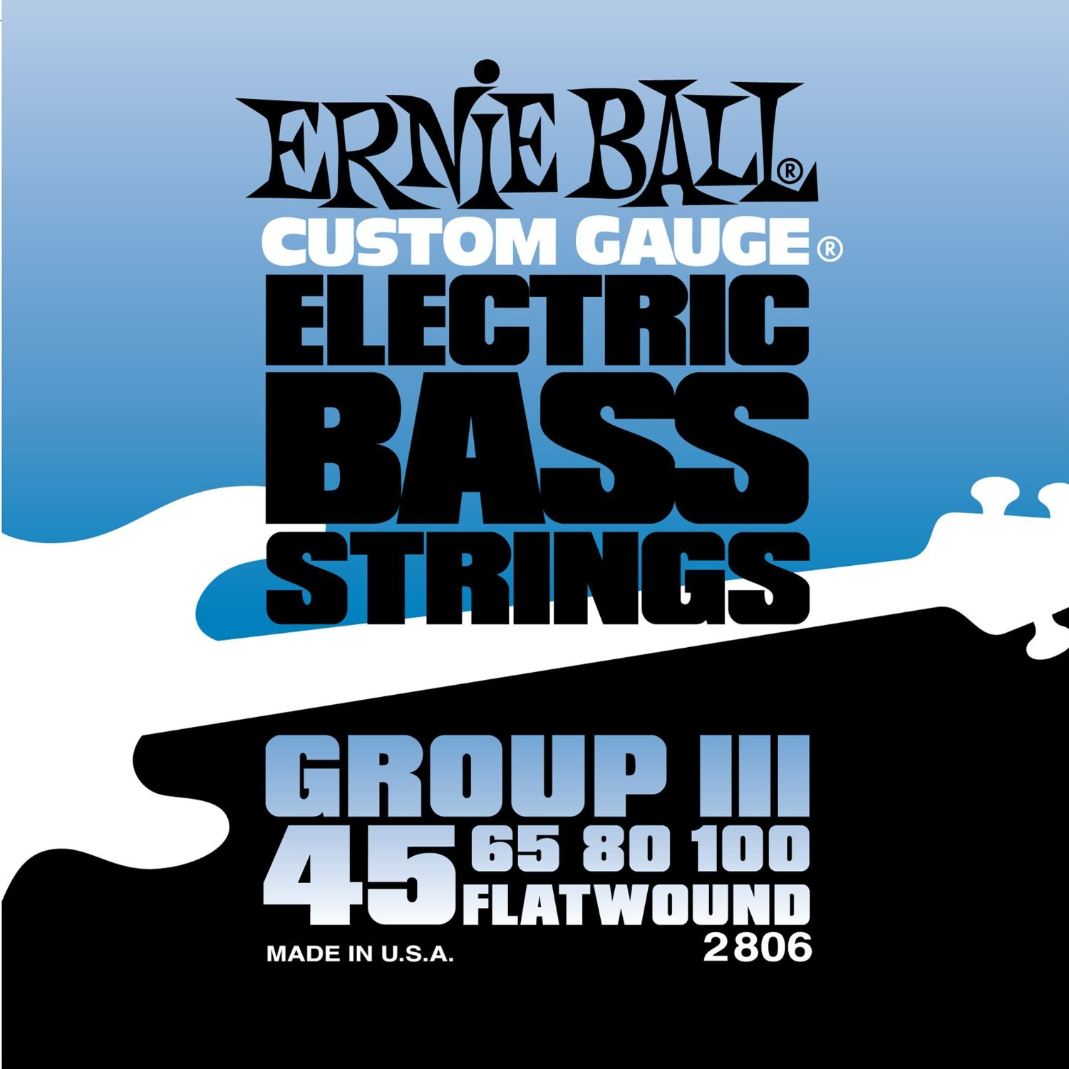 Bilde av Ernie Ball 2806 flatwound Bass-strenger Iii, 045-100