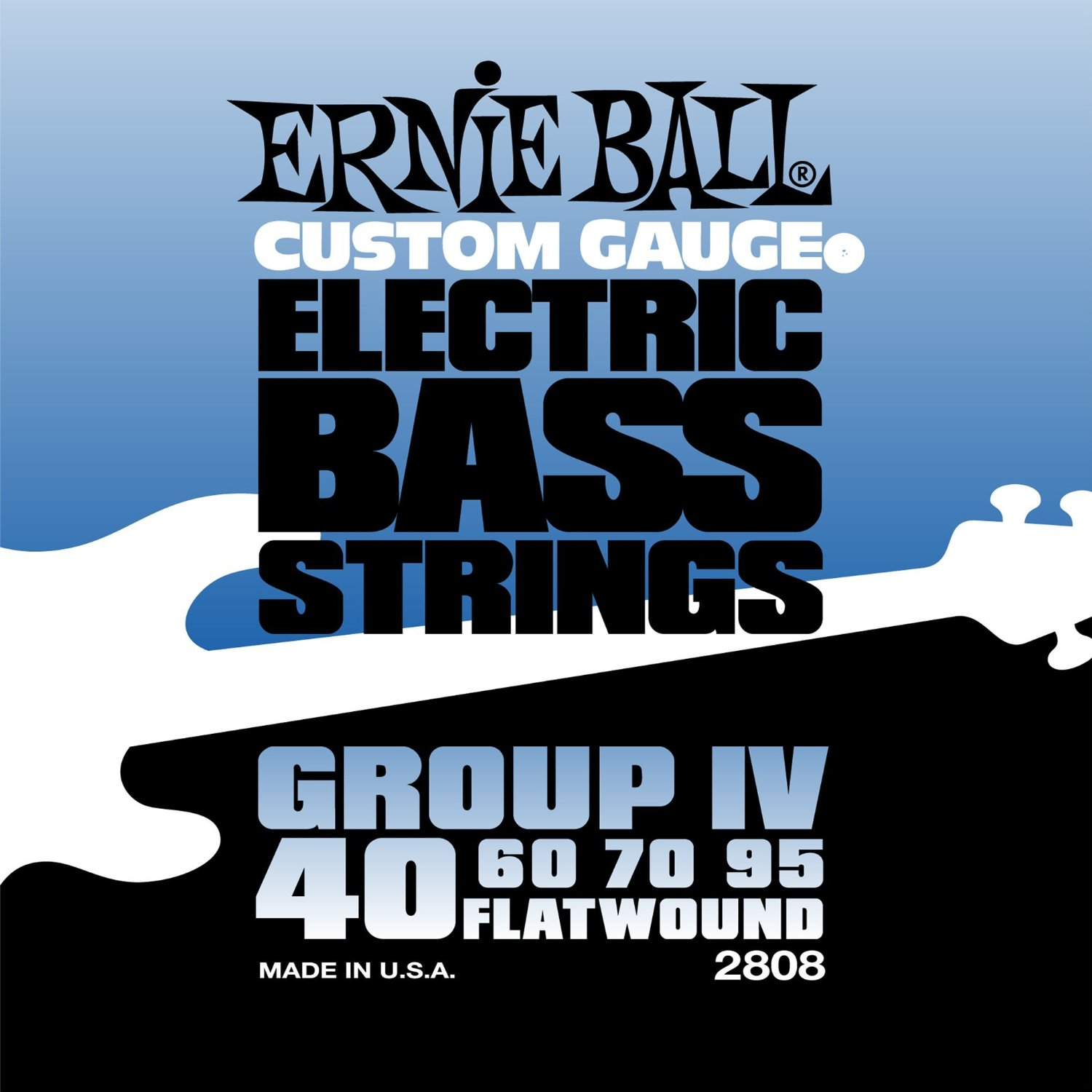 Bilde av Ernie Ball 2808 Flatwound Bass-strenger Iv, 040-095